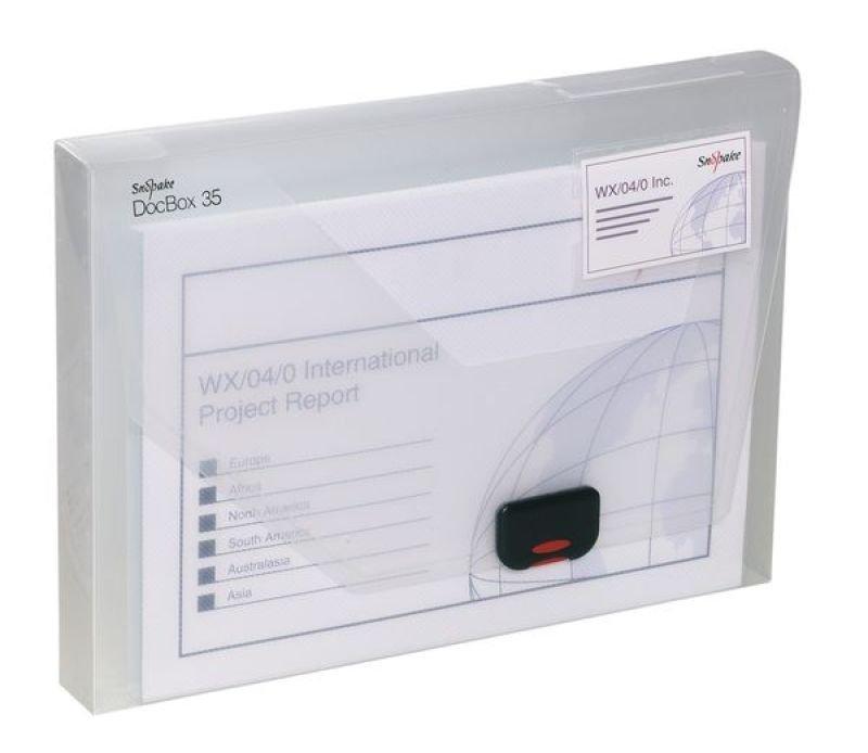 SNOPAKE DOCUMENT BOX A4 35mm CLEAR - 12861