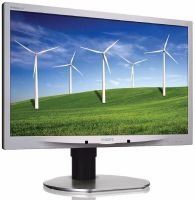 """Philips Brilliance P-line 220P4LPYES 22"""" LED LCD DVI Monitor"""