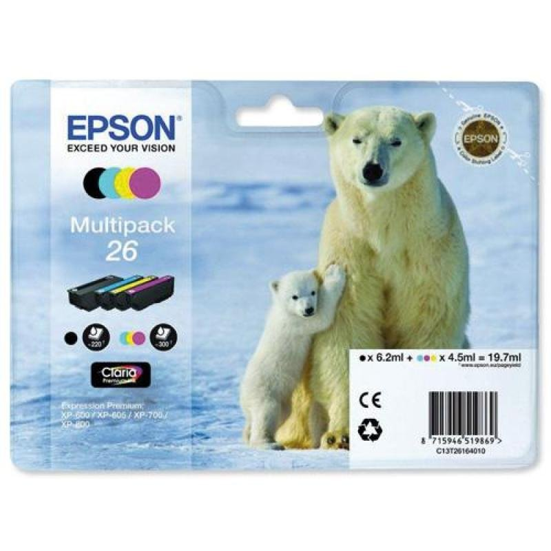 Epson Multipack 26 Claria Ink Cartridge