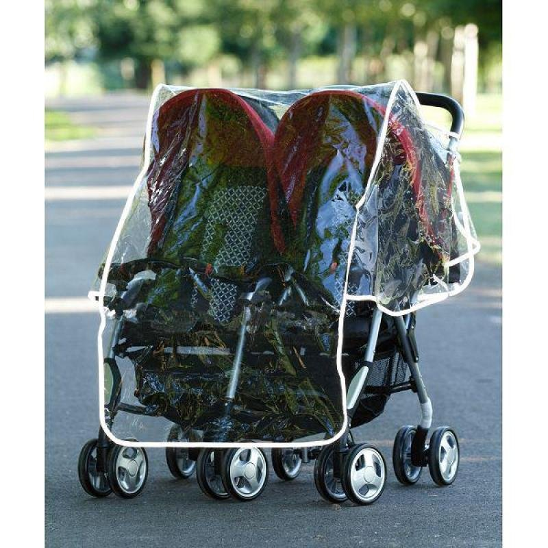 Sunshine Kids Double Stroller Rain Cover. Picture