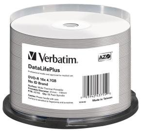 Verbatim 43755 DVD-R 4.7GB 16x Print 50 Pack