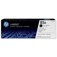 HP 85A Black Toner Cartridge Dual Pack - CE285AD