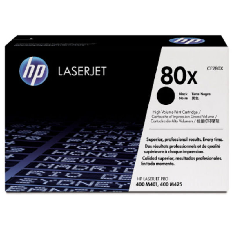 HP 80X Black Toner Cartridge - CF280X