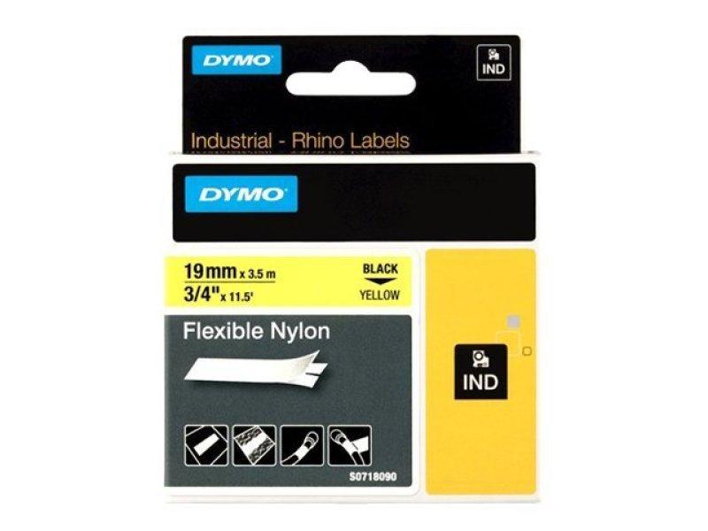 Dymo Black On Yellow Flexible Nylon Tape