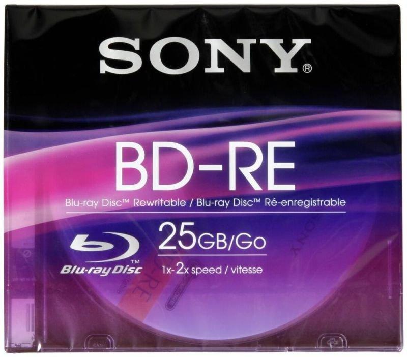 Sony BD-RE 25GB Blu-Ray Disc - 1 Pack Slim Case