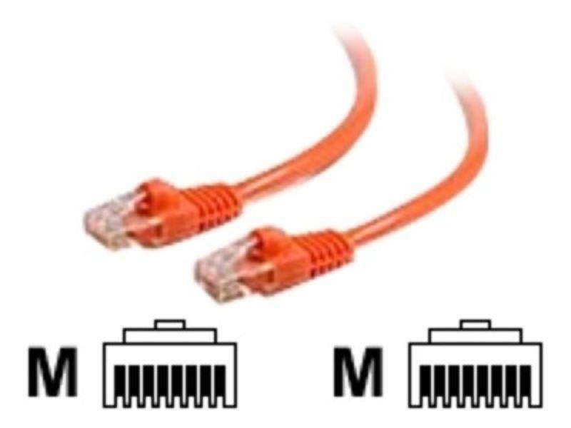 C2G, Cat6 550MHz Snagless Patch Cable Orange, 0.5m