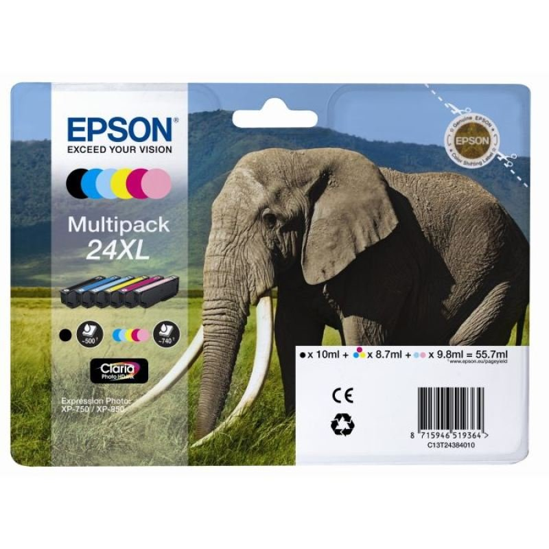 Epson 24XL Multipack Ink Cartridge- Blister