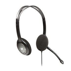V7 Standard Headset Blk/sil - Stereo Headphones Microphone In