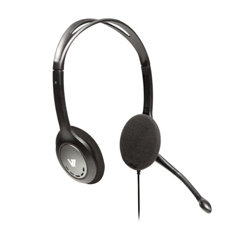 V7 Standard Headset Blksil  Stereo Headphones Microphone In