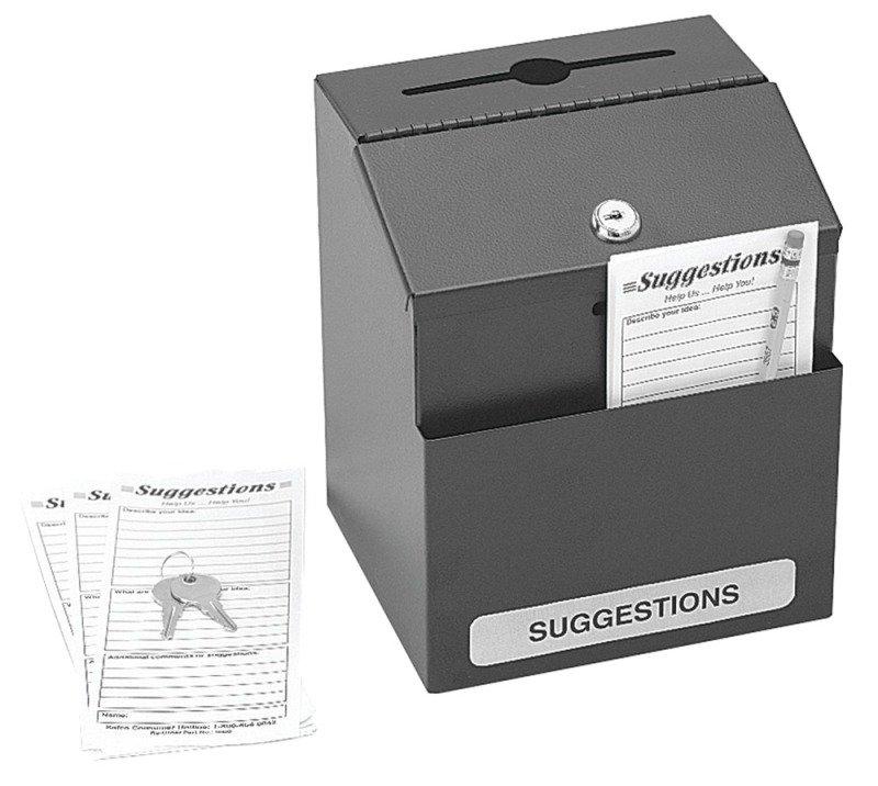 SAFCO LOCKING STEEL SUGGESTION BOX BLK