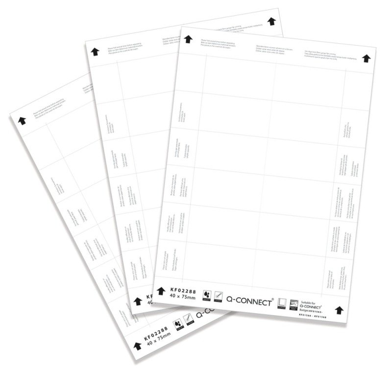 Q CONNECT NAME BADGE INSERTS 40X75 PK25