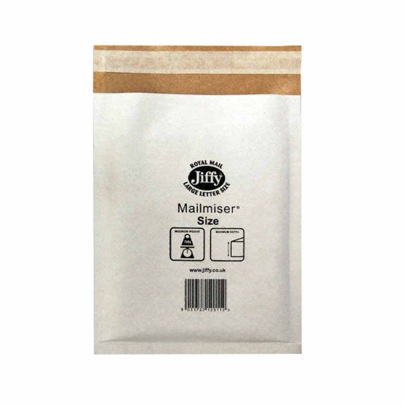 JIFFY MAILMISER 240X320MM PK50 WHITE MM4