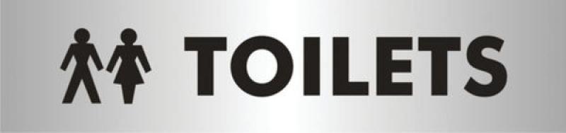 Stewart Superior Self Adhesive Acrylic Sign - TOILETS