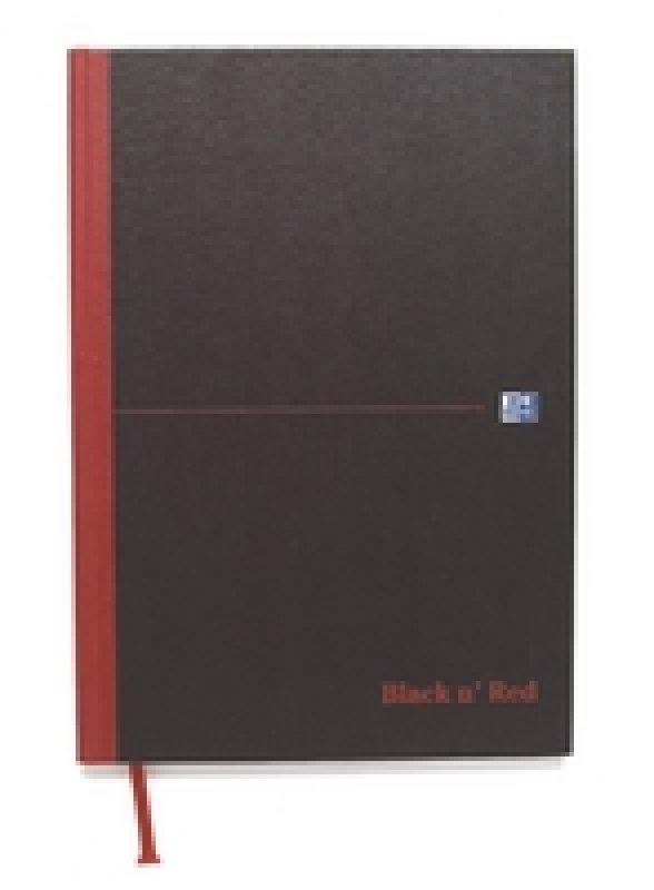 Blk N Red Casebnd Smart Bk A4 Ft