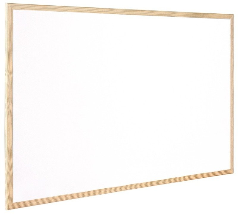 Q Connect Woodframe Whiteboard - 90x60cm