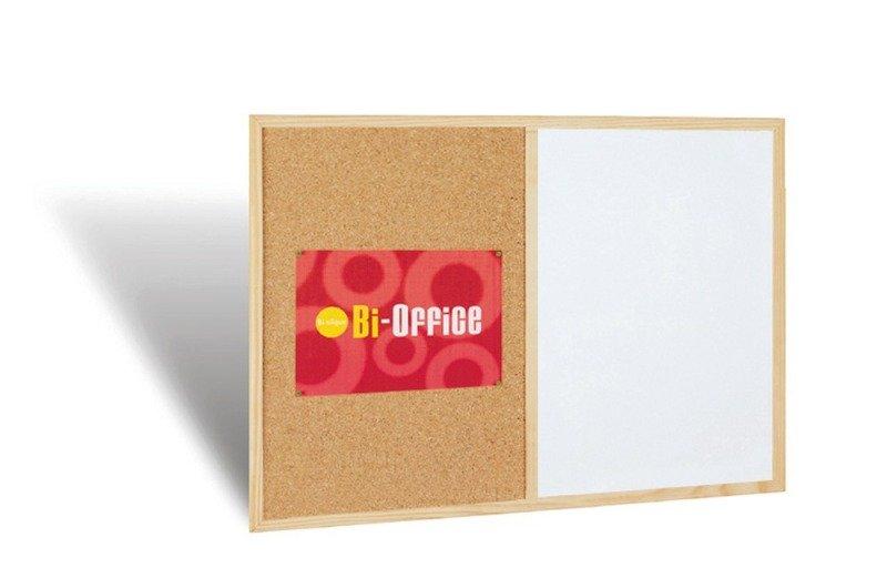 Bi-Office Combi Cork/Dry Wipe Board 600x400m