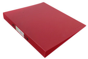 Q CONNECT RING BINDER FROSTED RED