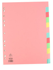 Extra Value 12 Part A4 Subject Dividers