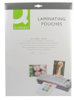 Q Connect A3 250mic Laminating Pouches - 25 Pack