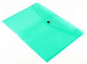 Qconnect Doc Folder Polyprop A4 Green - 12 Pack