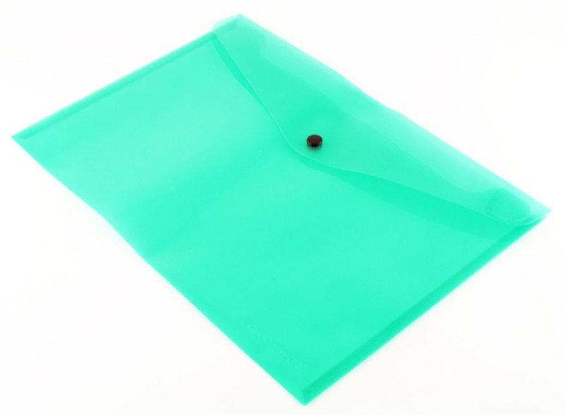 Qconnect Doc Folder Polyprop A4 Green  12 Pack