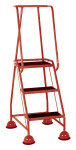 Red 3 Tread Step (Pack of 1)