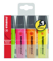 Stabilo Boss Highlighter Pens - 4 Pack