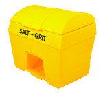 SALT/GRIT BIN W/ HOPPER FEED 400L YLW
