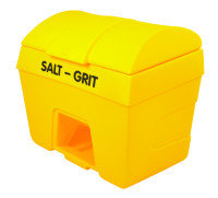 SALT/GRIT BIN W/ HOPPER FEED 400L YLW