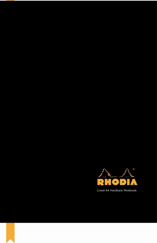 Rhodia Business A4 Casebound Hard Back Note Book Black - 3 Pack