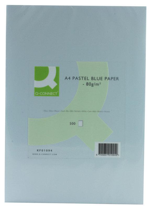 Q Connect A4 80gsm Blue Coloured Copier Paper - 500 Sheets