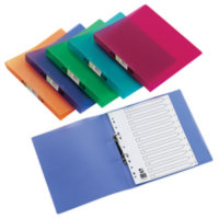 Q CONNECT RING BINDER FROSTED ASST PK12