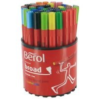 BEROL COLOUR BROAD ASSORTED TUB 42 CBT