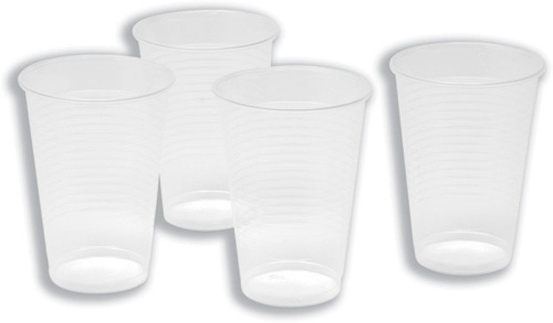 Maxima Clear Plastic 7oz Water Cup - 100 Pack