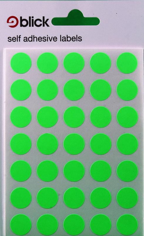 Blick Label Fluo Bag 13Mm Grn 140 004158 - 20 Pack
