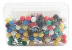 ESSENTIALS MAP PIN PK100 ASSORTED 26941