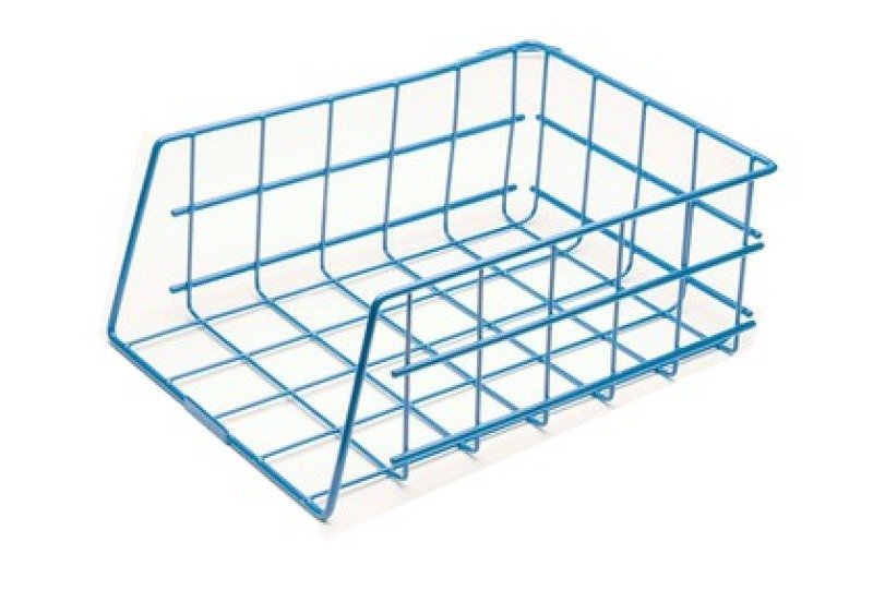 Image of Universal Large Capacity Stacking Wire Tray Blue