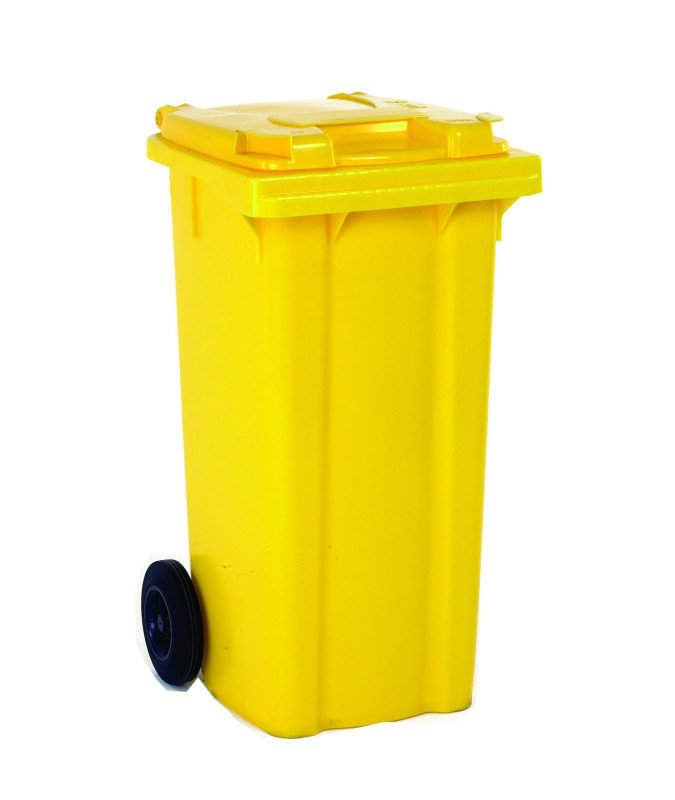 FD REFUSE CONTAINER 120L 2 WHLD YLW 33