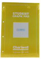 Chartwell Graph Pad A4 5mm Yellow/blue - 10 Pack