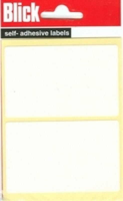 Blick Label Bag 50x80 Wht Pk14 000457 - 20 Pack