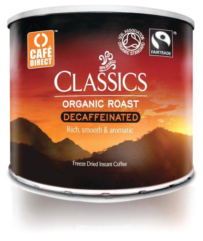 Cafe Direct Fair Trade Medium Roast Decaffeinated Orangic Coffee - 500g