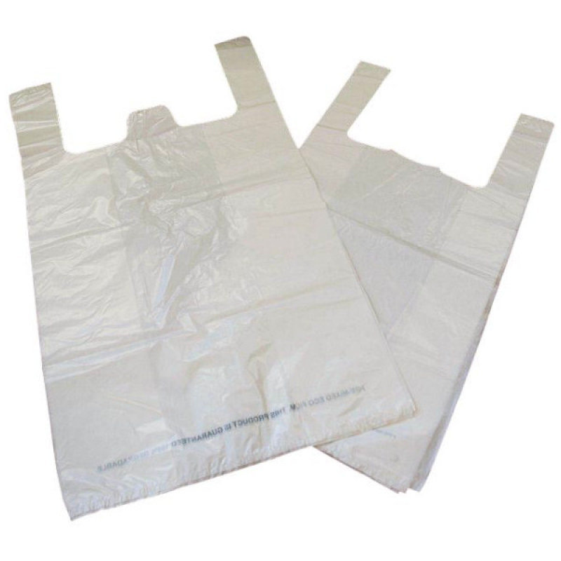 Image of Kendon White Carrier Bag Bio-Degradable - Pack of 1000