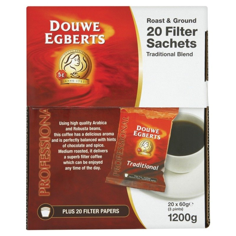 Image of Douwe Egberts Roast & Ground Filter Coffee - 20 Pack