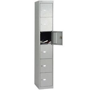 Bisley 457mm 6 Door Locker - Goose Grey