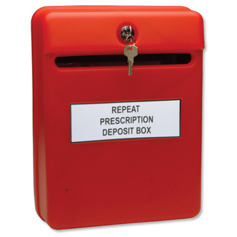 Image of HELIX POST SUGGESTION BOX RED W81060