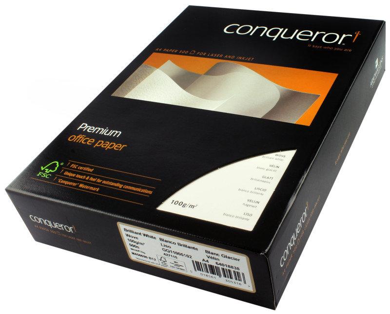 Image of CONQUEROR WOVE BRILL WHT A4 100GSM PK500