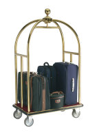 Crown Luggage Trolley Brass