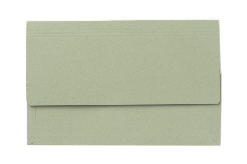 Image of Guildhall 3/4 Flap Legal Document Wallet Green