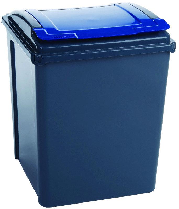 VFM Blue/Grey Recycling Bin - 50 Litre