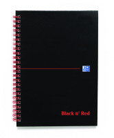 Blk N Red Wirnbk A5 140 Pages Ft/idxed - 5 Pack